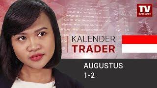 InstaForex tv news: Kalender Trader untuk Augustus 1 - 2: Akankah GBP terjun lebih rendah? (GBP, USD)