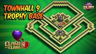 NEW!! BASE TH9 TROPHY STRONGEST | TH9 PUSHING BASE | CLASH OF CLANS