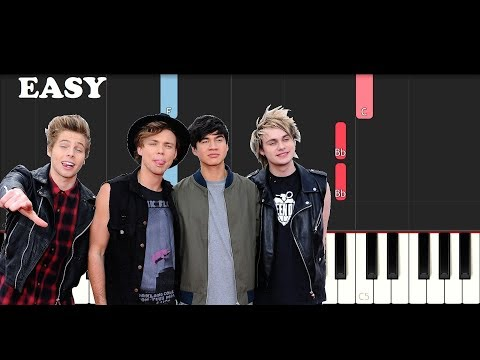 5 Seconds Of Summer  Ghost Of You SLOW EASY PIANO TUTORIAL