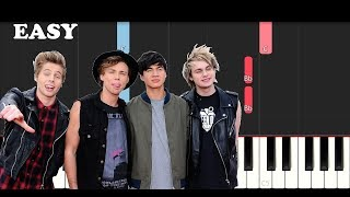 5 Seconds Of Summer - Ghost Of You (SLOW EASY PIANO TUTORIAL)