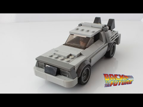 Lego Delorean from Back to the Future as a Speed Champions car