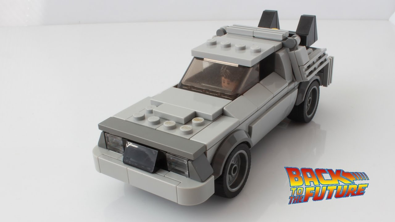 Lego Delorean From Back To The Future As A Speed Champions