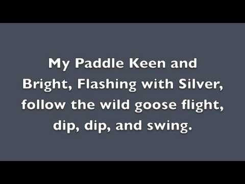My Paddle/Land of the Silver Birch Partner Song