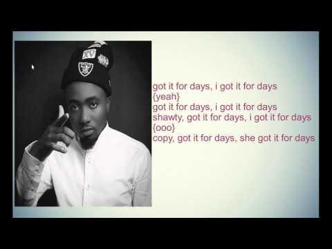 For Days- Sarkodie ft. Ice Prince Lyrics