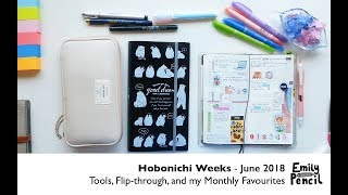 Hobonichi Weeks June 2018 - Flipthrough, Process and Stationery Favourites