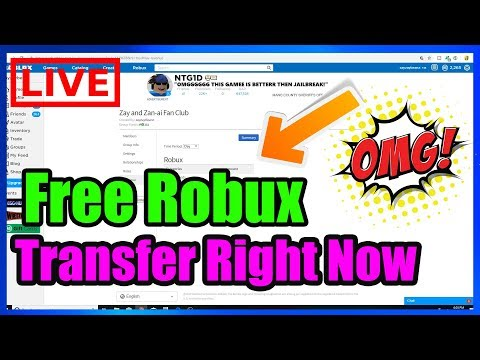 Live Robux Transfer Today Get Your Robux Right Now May 11 Youtube