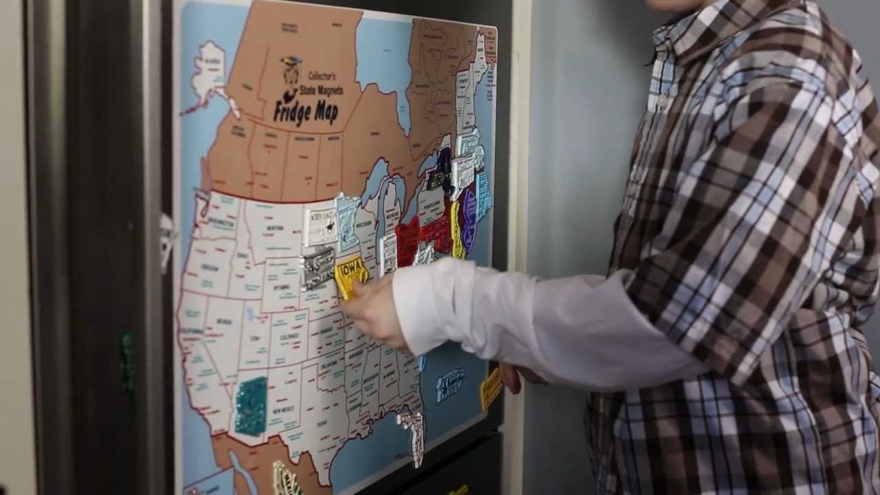 State Magnets USA Fridge Map YouTube Usa