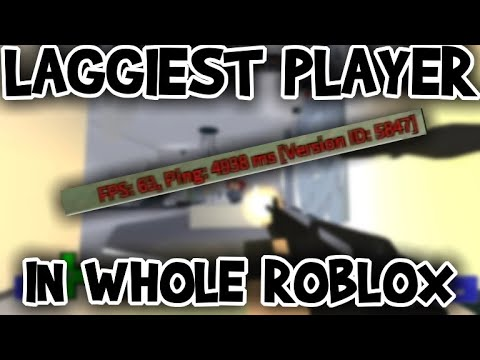 LAGGIEST PLAYER IN WHOLE ROBLOX COMMUNITY | ARSENAL