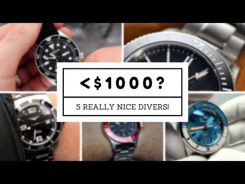 5 Best NEW Divers under $1000! (Seiko, Glycine, CW, Longines, & Squale)