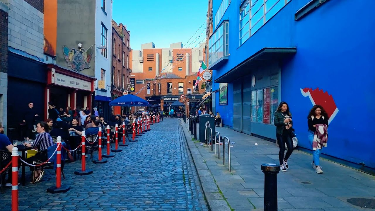 Temple Bar Looks Amazing Today With Pubs and Restaurants Reopening