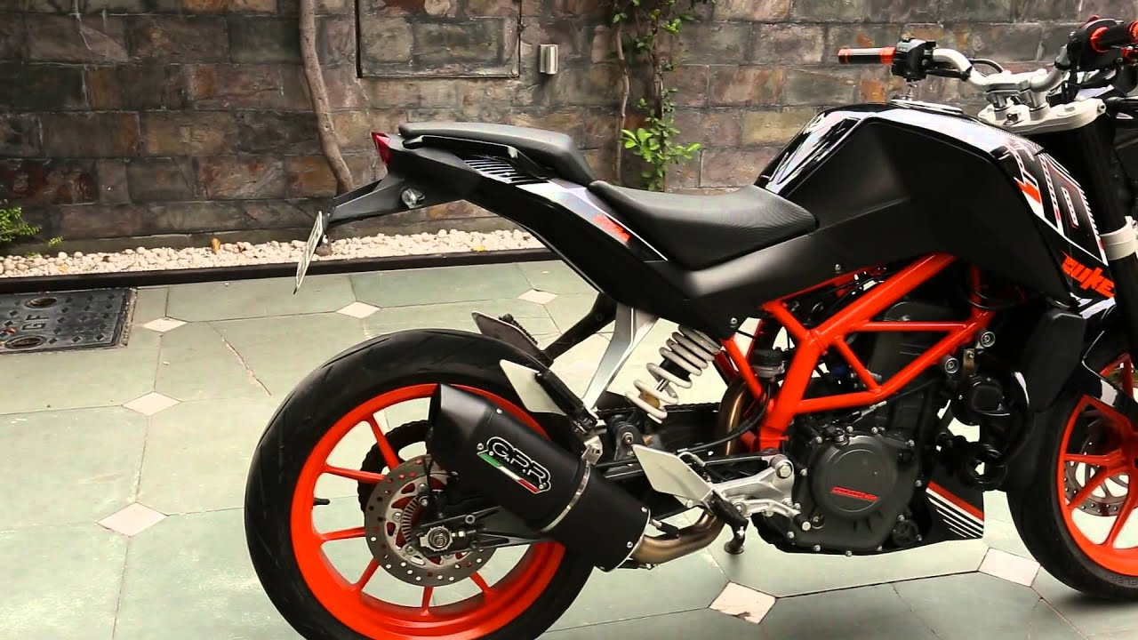 the ktm duke 390 with the gpr furore full system no db. Black Bedroom Furniture Sets. Home Design Ideas