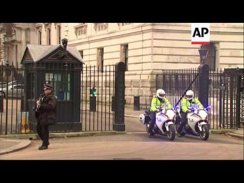 UK PM leaves Downing Street for US trip