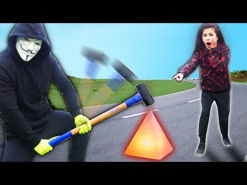 PROJECT ZORGO vs CRYSTAL & NINJA GADGETS in Real Life (Delorean Obstacle Course Race Against Time)