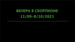ВЕНЕРА в СКОРПИОНЕ 11/09/21 - 8/10/2021   Гороскоп для каждого знака