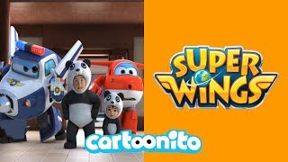 Super Wings | The Panda Chase | Cartoonito UK
