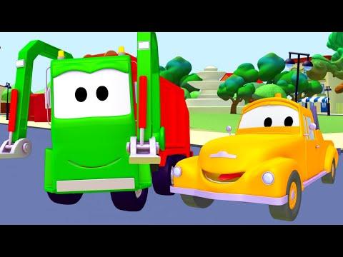 The Garbage Truck - Tom o Caminhão de Reboque na Cidade do Carro  Desenhos animados crianças
