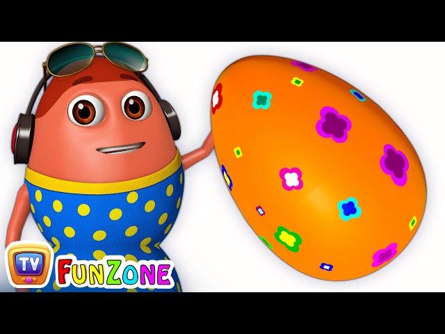 Learn ORANGE Colour with Johny Johny Yes Papa | Surprise Eggs Colours Ball Pit Show | ChuChuTV 3D