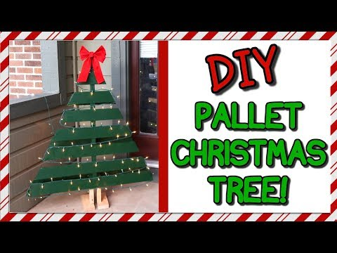 How To Make A Pallet Christmas Tree | DIY