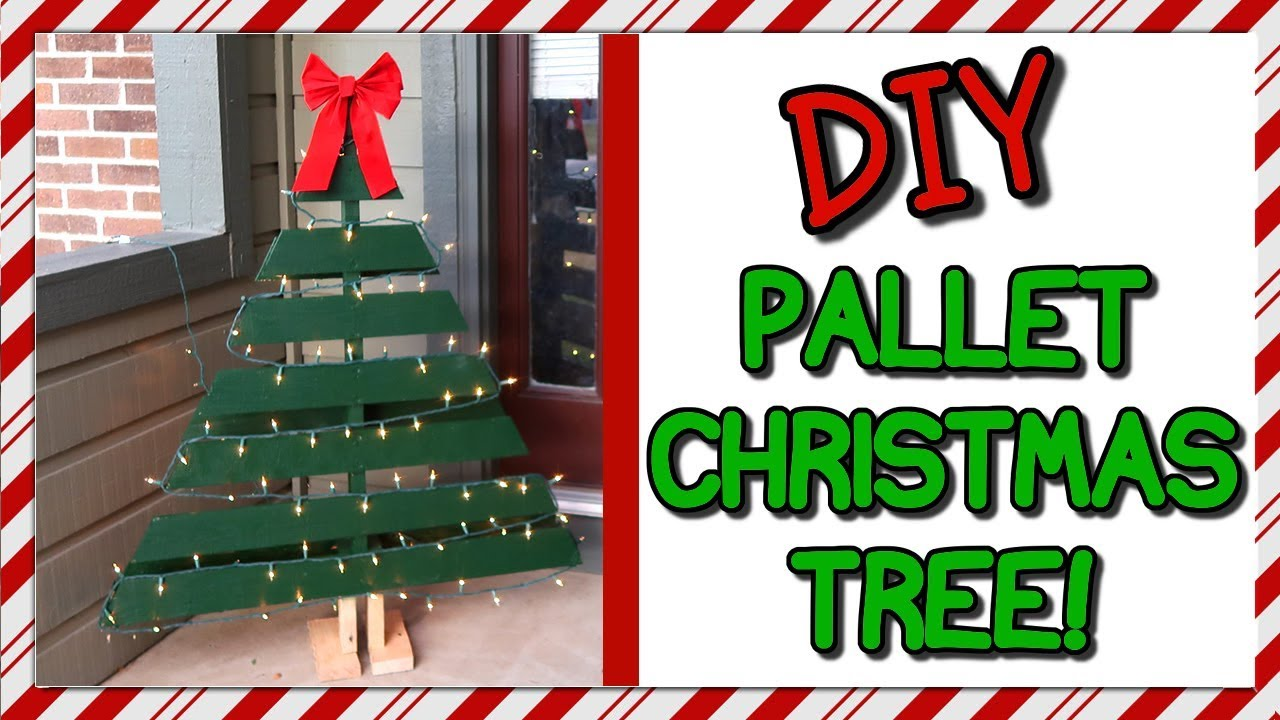 How To Make A Pallet Christmas Tree How To With Kristin Youtube