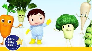 YUMMY! Vegetables for Strong SUPER HEROES | NEW! | Best Kids Songs | Little Baby Bum