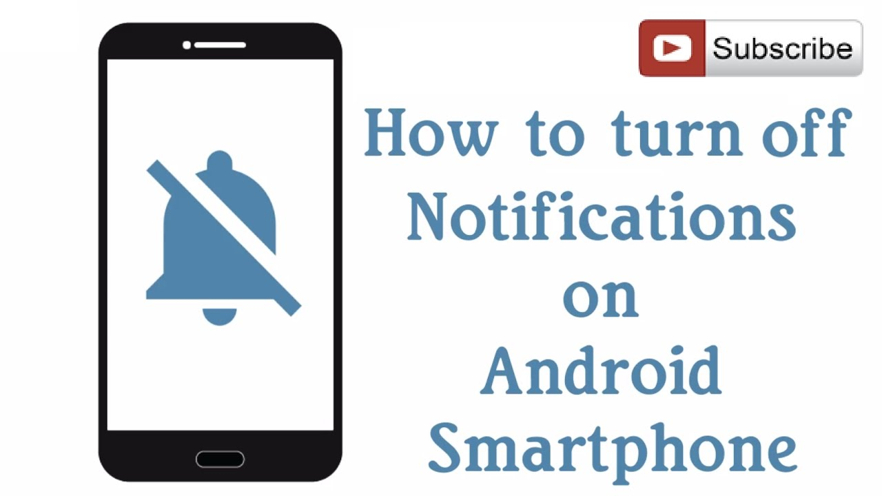 How to Turn Off Notifications on Android Phones \u0026 Tablets - YouTube