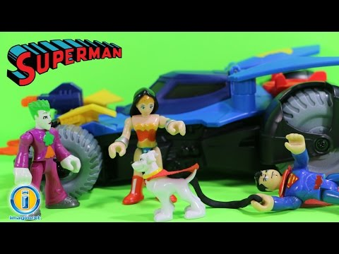 Imaginext Superman Toys Walks Krypto the Superdog Dog Who Attacks Green Laterns Squirrel Bd