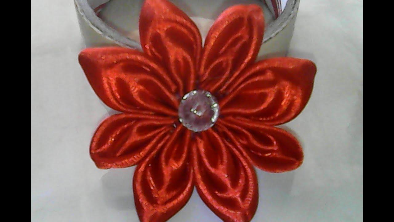DIY-cara membuat bunga sederhana dari pita satin-how to ... - photo#10
