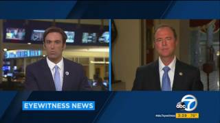 Rep. Schiff Discusses Being Attacked on Twitter by President on ABC 7