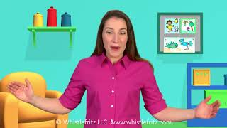 French for Kids: L'ANNIVERSAIRE DE FRITZI—Birthday party in French (Whistlefritz)