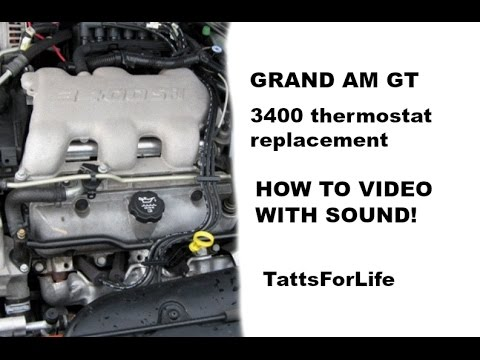 [DIAGRAM_3NM]  How To 2004 grand am thermostat replacement WITH SOUND AND VOICE - YouTube | 04 Pontiac Grand Am Engine Diagram |  | YouTube