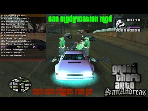 How To Install GTA San Andreas Cheat Codes Menu Pc | Car Modification | GTA San Cheats Codes