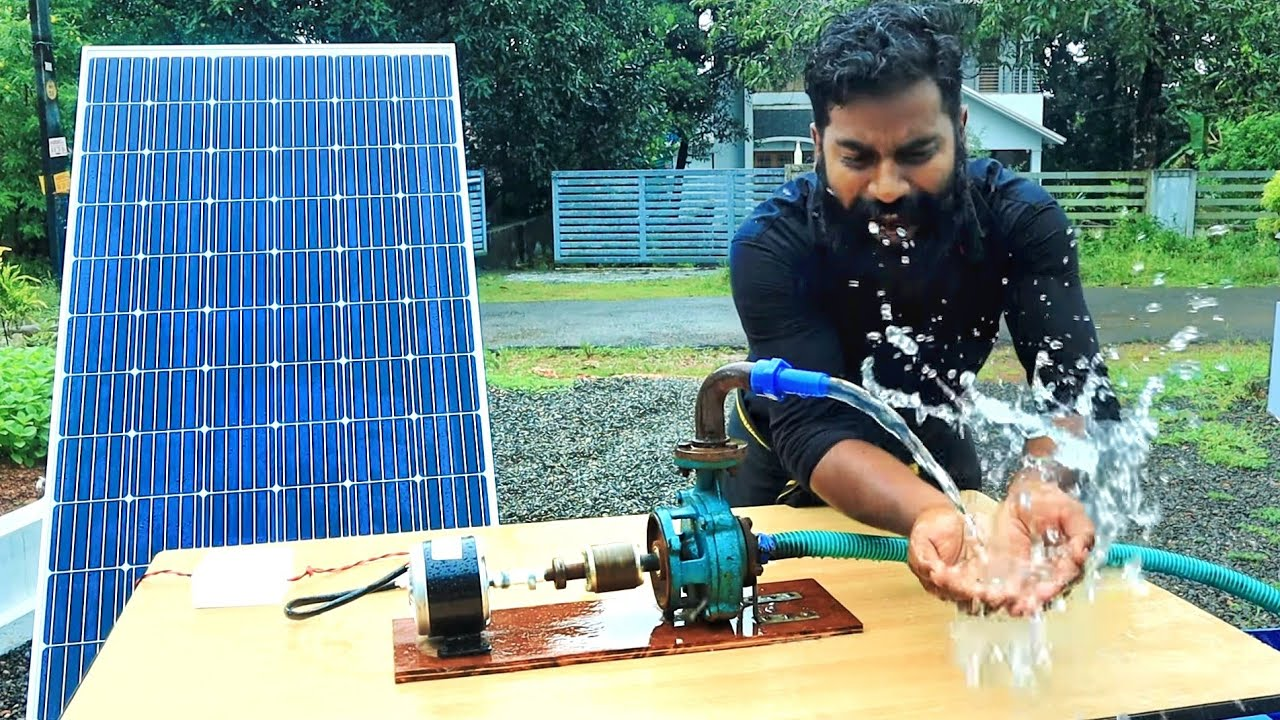 HOW TO MAKE SOLAR WATER PUMP   സോളാർ പവർ  വാട്ടർപമ്പ് ഉണ്ടാക്കിയാലോ???   M4 Tech 