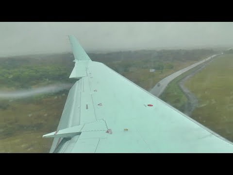 Air Canada Express CRJ-200 Rainy Landing in Ottawa