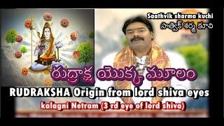 Origin of Rudraksha from lord shiva eyes | origin of rudraksha from kalagni netram of lord shiva
