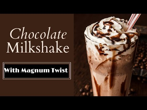 Low Cost Chocolate Milkshake Recipe | Magnum Ice Cream By #shortvideo #shorts