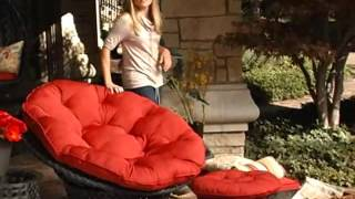 Haven All Weather Wicker Outdoor Papasan Chair Set - Product Review Video