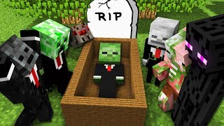 Monster School: RIP BABY Zombie - Scary Minecraft Animation