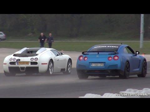 Bugatti Veyron 16.4 Grand Sport vs Nissan R35 GT-R vs TT-RS vs 991 Turbo S