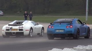 Bugatti Veyron 16.4 Grand Sport vs Nissan R35 GT-R vs TT-RS vs 991 Turbo S
