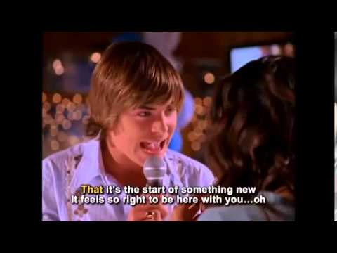 High School Musical - Start of something new  KARAOKE (VIDEO