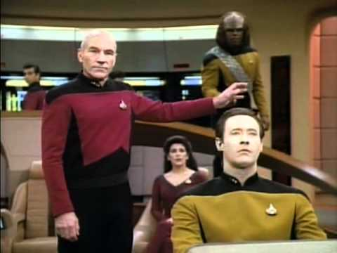 Worf gets DENIED again and again on Star Trek TNG.