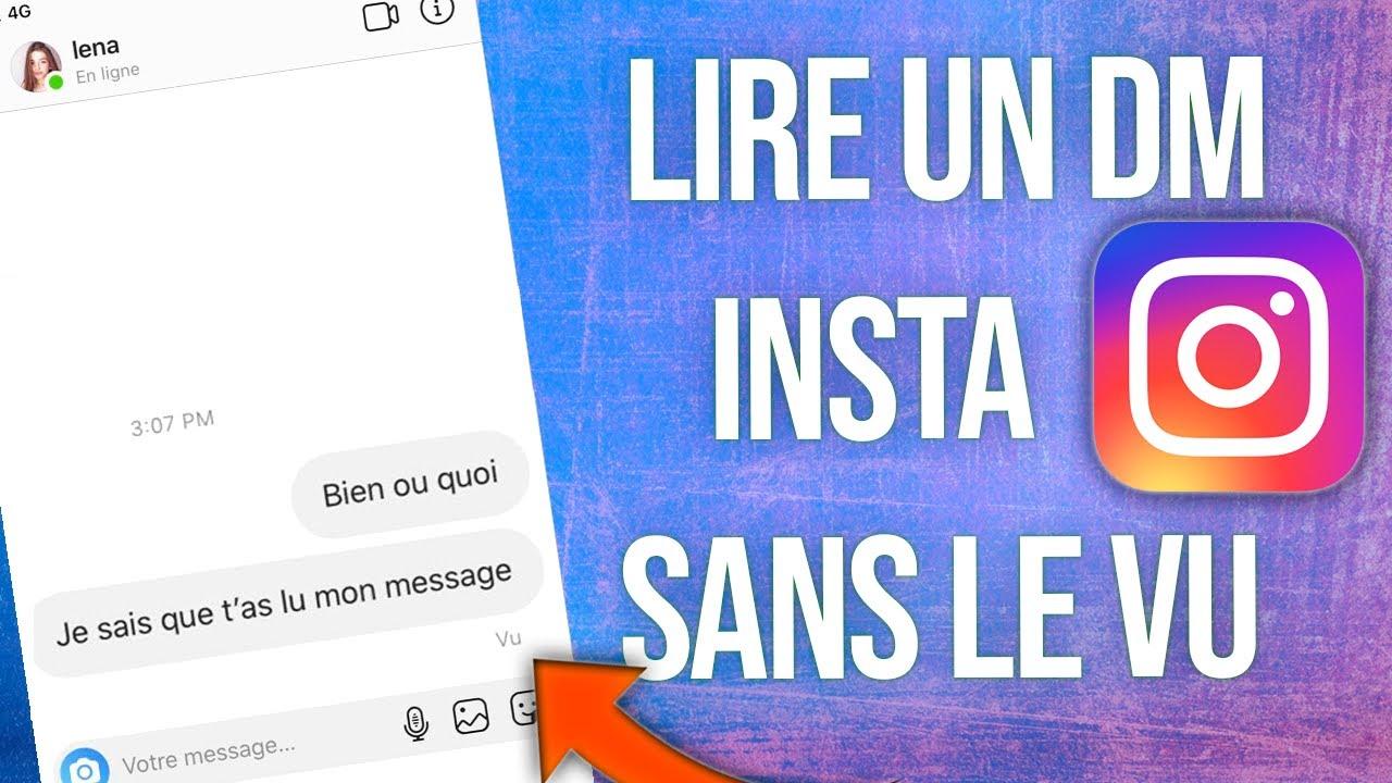 Ouvrir un Message Instagram sans que la personne le sache
