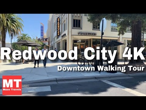Redwood City Downtown, California - Walking Tour USA 🏆