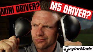 TAYLORMADE ORIGINAL ONE MINI DRIVER vs TAYLORMADE M5 DRIVER Video