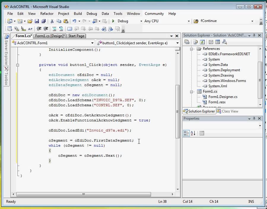EDI Sample Programs for UN/EDIFACT Messages