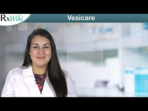 Overveiw Of Vesicare A Prescription Medication Used To Treat Symptoms Of An Overactive Bladder