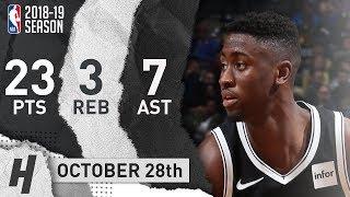 Caris LeVert Full Highlights Nets vs Warriors 2018.10.28 - 23 Pts, 7 Ast, 3 Rebounds!