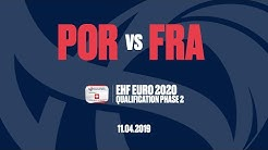 RE-LIVE   Portugal vs. France   Qualifiers   Group 6   Men's EHF EURO 2020