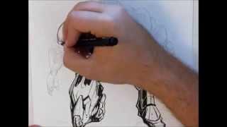 Drawing Time Lapse Iron man 4 - Por Giovanni Zardini