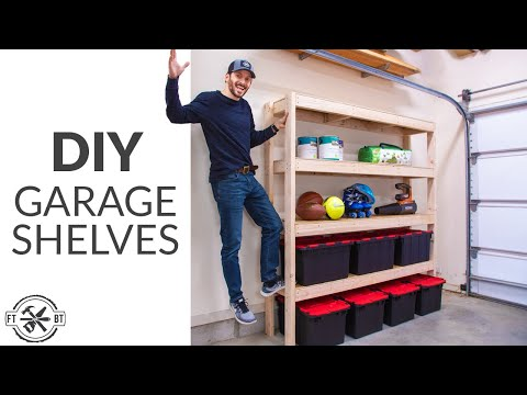 Super Efficient 2×4 Garage Shelves | DIY Garage Storage